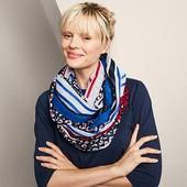 Яркая , стильная шаль - снуд от Tchibo (германия) размер универсальный