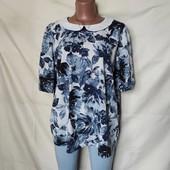 Очень красивая лёгкая блуза с актуальным воротничком, грудь-124