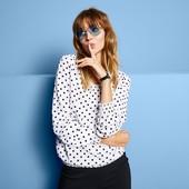 ☘ Ніжна і повітряна блуза від Tchibo (Німеччина), наші розміри: 44-46 (38 євро)