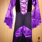 Карнавальный костюм платье ведьмы, вампира, р-р 128-134