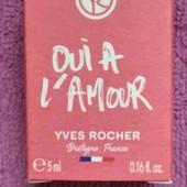 Парфюмированная вода ив роше 5 мл oui a l'amour yves rocher