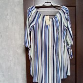Фирменное новое красивое вискозное платье-туника р.12-14