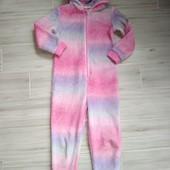 Слип пижама плюшевая единорог 5-6лет замеры на фото