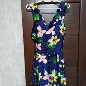 Фирменный красивый сплошной купальник-платье в состоянии новой вещи р.16-22.