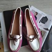 Топсайдеры Bogner / яркие туфли / мокасины, стелька 25 см