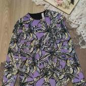 Красивая,комбинированная блуза для женщины, размер С-М