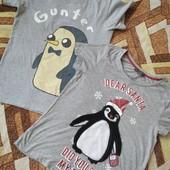 Две классные,фирменные футболки одним лотом, девочке 12-14, замеры