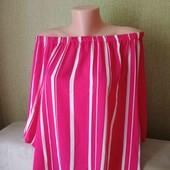 Стильная шифоновая блуза ,спущенные плечики