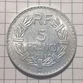 Монета Франции 5 франков 1949