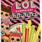 Турция.Мармеладные фруктовые палочки- конфеты fizzy straws LOL surprise! Вес 80 грамм.
