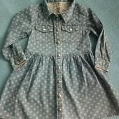 платье джинсовое 2-3года