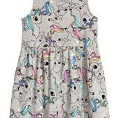 Платье сарафан H&M, единороги, на 6-8 лет