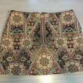 Всё по 100! Фирменная красивая юбка из гобелена в отличном состоянии р.16
