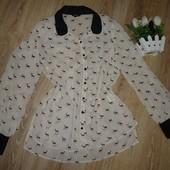 Классная рубашка блуза papaya. Принт олени. Размер 16