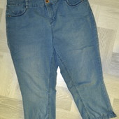 джинсові укорочені штани -бріджі 56-58розмір