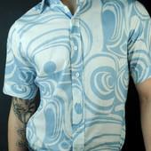 Легкая мужская тениска Desibel! х\б 100% коттон. Замеры
