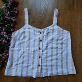 Блуза гудзики до низу, натуральна, батал❤️