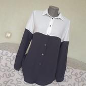 Стильная рубашка блузка р. 8 пр-во Италия