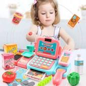 Детский кассовый аппарат, 24 предметов магазин