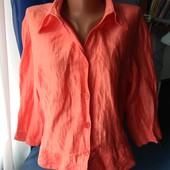 Летний женский пиджачок/блузка, р.42(48-52)