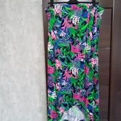 Фирменная красивая вискозная трикотажная юбка-макси в состоянии новой вещи р.22-26