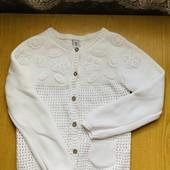 Красивенная хлопковая белая кофта на 4-6 лет ! Состояние отличное