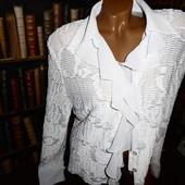 Белая фактурная блуза, 44р евро