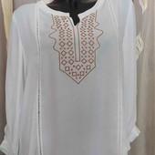 блуза с вышивкой креп шифон