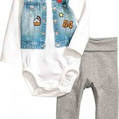 Костюм (боди + штаны) H&M / 68