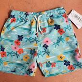 ♡ Яркие шорты быстровысыхающие для пляжа UPF 50+ от Marks&Spenser, 6-7 лет (122 см)