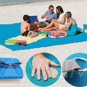 Пляжная подстилка, пляжный коврик Антипесок, анти - песок, пляжний килимок Sand Mat | 125*200