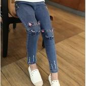 Модные джинсы ,,кошечка,,для девочки тренд 2021!такие не купите нигде!)