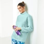 Ваш спортивный стиль. Мятная толстовка из структурированной ткани , оверсайз Tchibo, размер М