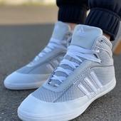 Хайтопы* Adidas Кожа, сетка, на подкладке 29,5 см