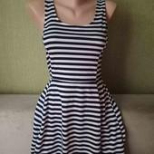 Легкое платье в полоску ,размер С