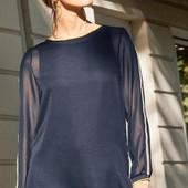 Элегантная, воздушная двухслойная блуза -туника . от Tchibo (германия) размер 38 евро=44