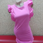 Легенькое платье 11 розовый размер на выбор!Смотрите замеры!!