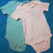 Набор 2 шт, боди для девочки Lupilu размер 98/104 (2 - 4 года.) )