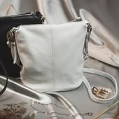 Стильная кожаная сумочка ТМ Камелия Цвет белый