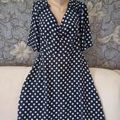 Лёгкое, воздушное платье в горошек, Simply Be, p. L-XL
