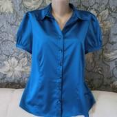 Новая, шикарная атласная блуза изумрудного цвета, Papaya, p. XL