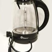 Чайник электрический, электрочайник дисковый стеклянный Domotec ms 8110