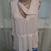 Новая Шифоновая блуза с шарфиком от asos!! Можно под пиджак! Для офиса самое то! Цвет-пудра!