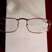 Очки для зрения с диоптрией в металлической оправе, +1,5