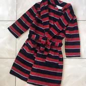 Стоп , плюшевая нежность❤ Фирменный яркий мягенький полосатый халат ,5-6 лет❤ Много лотов!