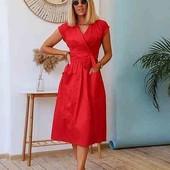 Платье женское летнее Новинка! Коттон 4 цвета