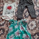 летний лот на малышку 0-9 месяцев