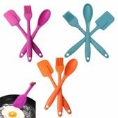 набор для кухни:кисть,лопатка,ложка.цвет розовый