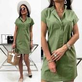 Платье женское лён Новинка! 4 цвета