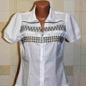 Блузка вышиванка от George.вышитая крестиком в патриотических цветах Украины.100%хлопок